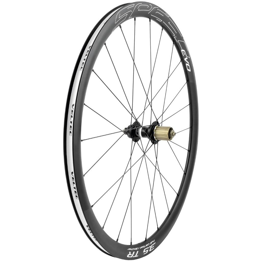 Image of Veltec Speed EVO 3.5 TR Disc Carbon Rear Wheel - Centerlock - Clincher - QR130/12x142mm
