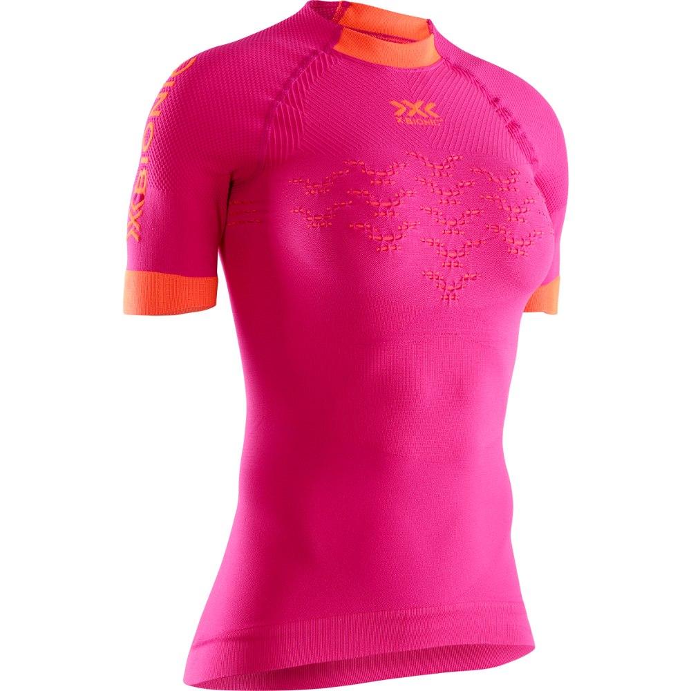X-Bionic The Trick 4.0 Run Camiseta Mujer - trick pink/kurkuma orange