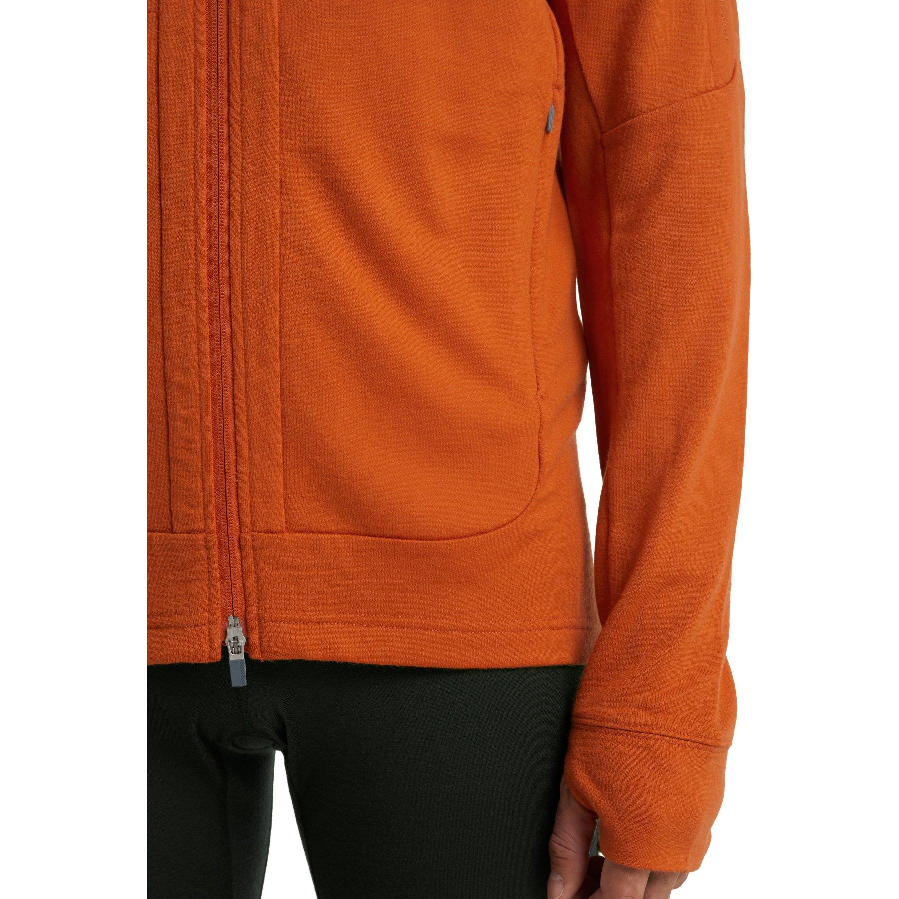Bild von Icebreaker Quantum III Long Sleeve Zip Hood Herren Midlayer Jacke - Spice