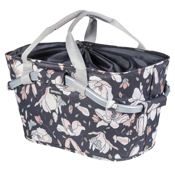 Image of Basil Magnolia Carry All Rear Basket - pastel powder