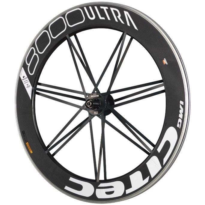 CITEC 8000 SL / 80 Ultra 28 Inch Rear Wheel - Clincher - 10x130mm QR - white/black