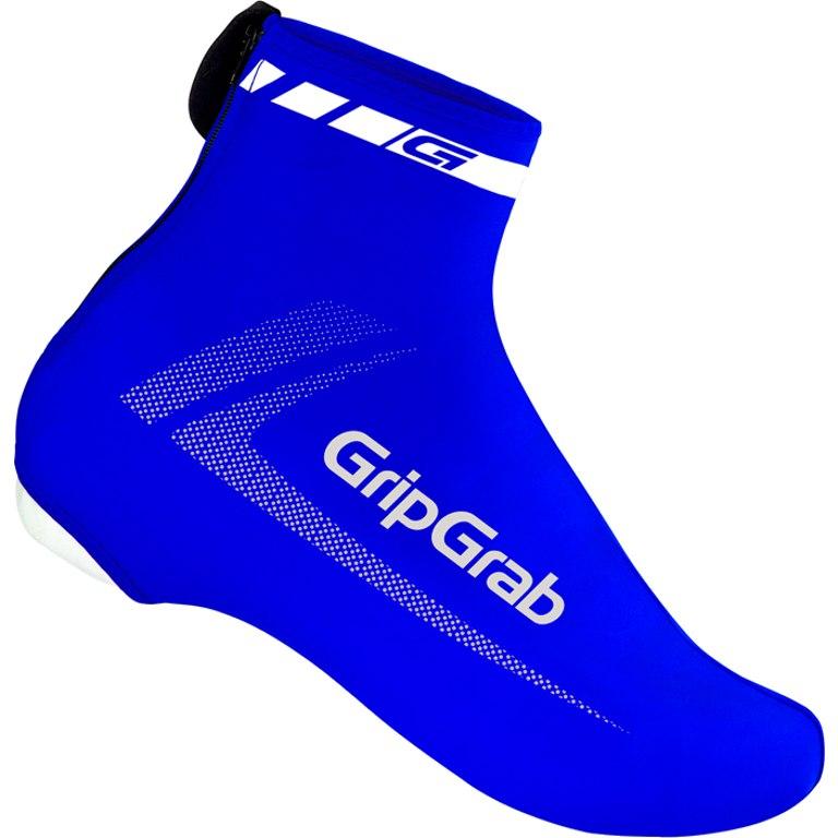 GripGrab RaceAero Lightweight Lycra Shoe Cover - Blue
