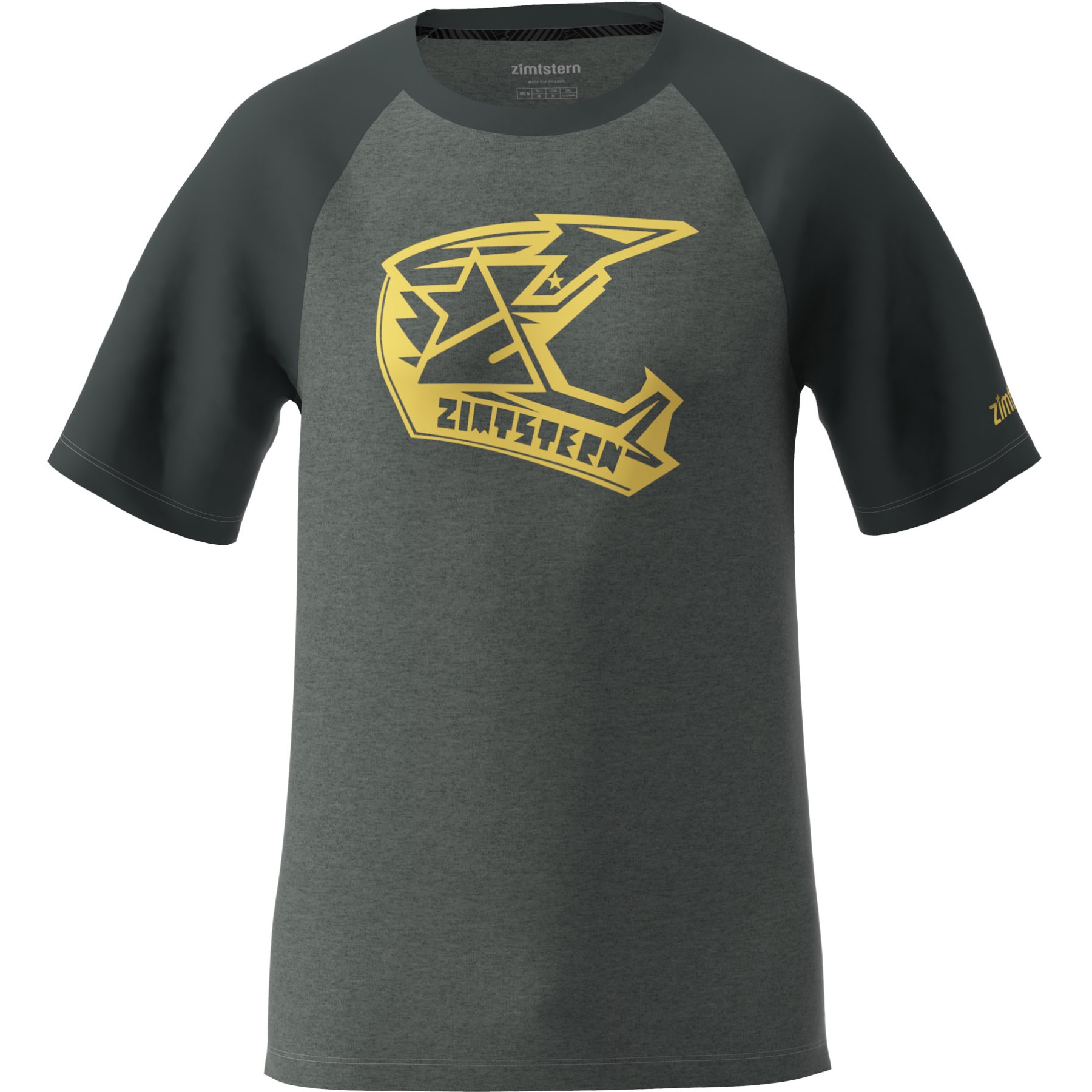 Zimtstern Faze T-Shirt - gun metal melange/pirate black