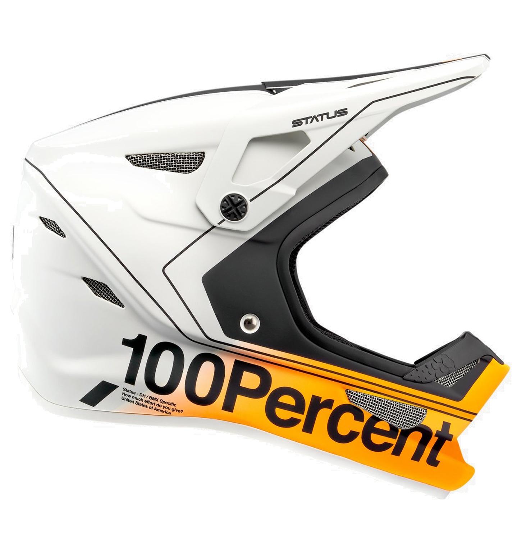 100% Status DH/BMX Casco - Charby Silver