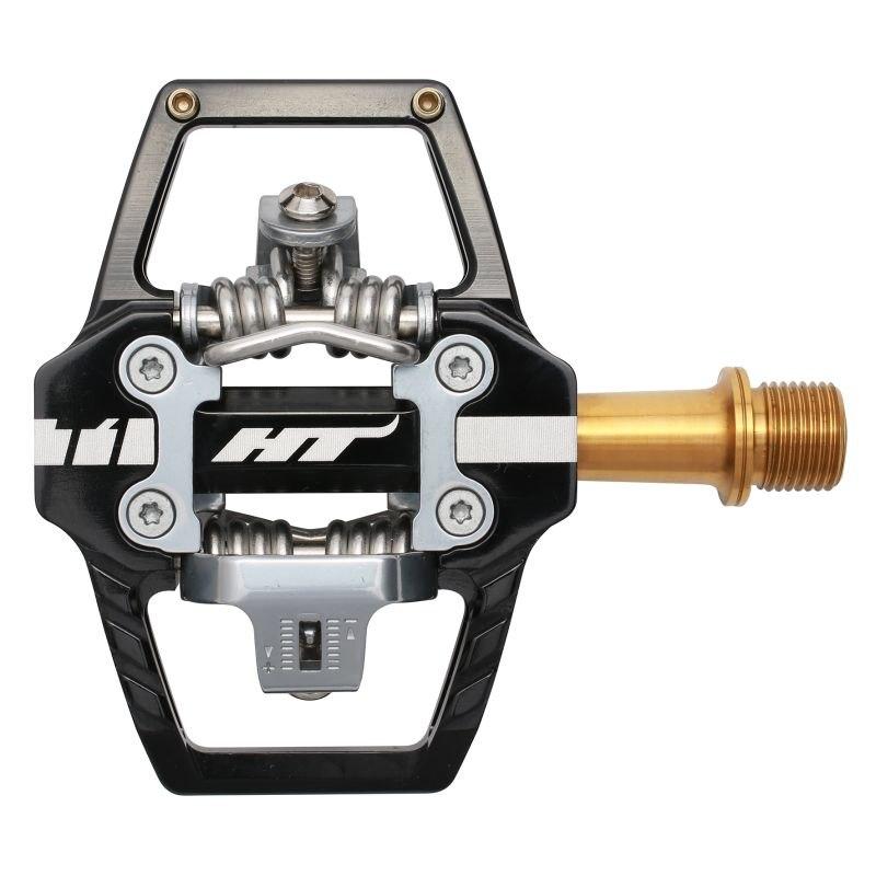 Produktbild von HT T1T Klickpedal Aluminium / Titan - schwarz