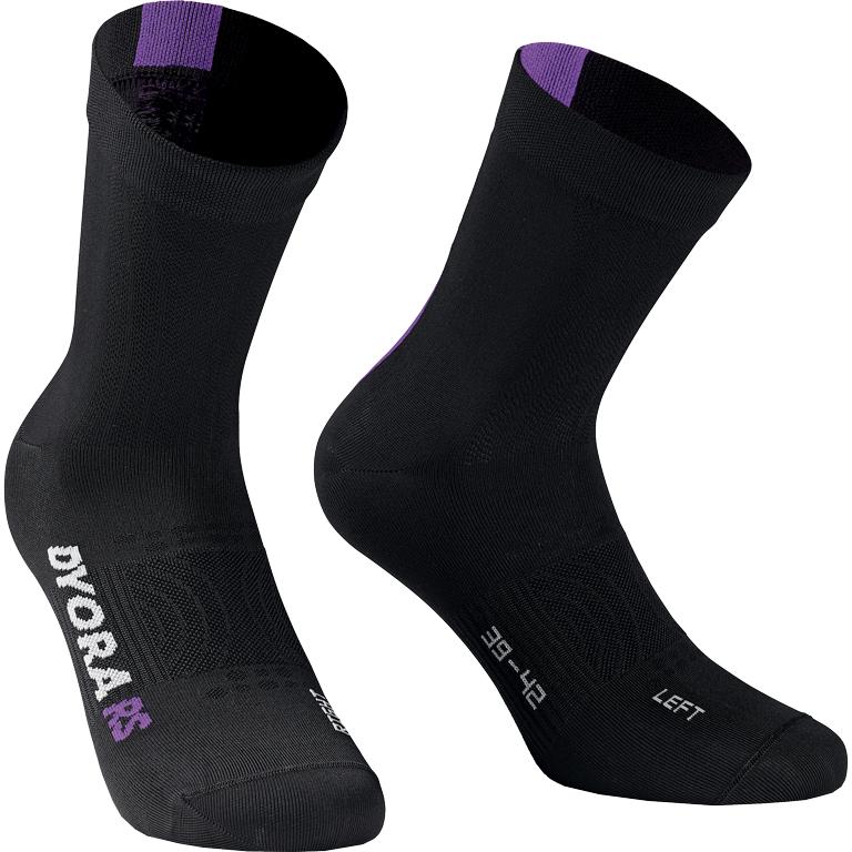 Assos DYORA RS Summer Socken Damen - blackSeries blackViolet