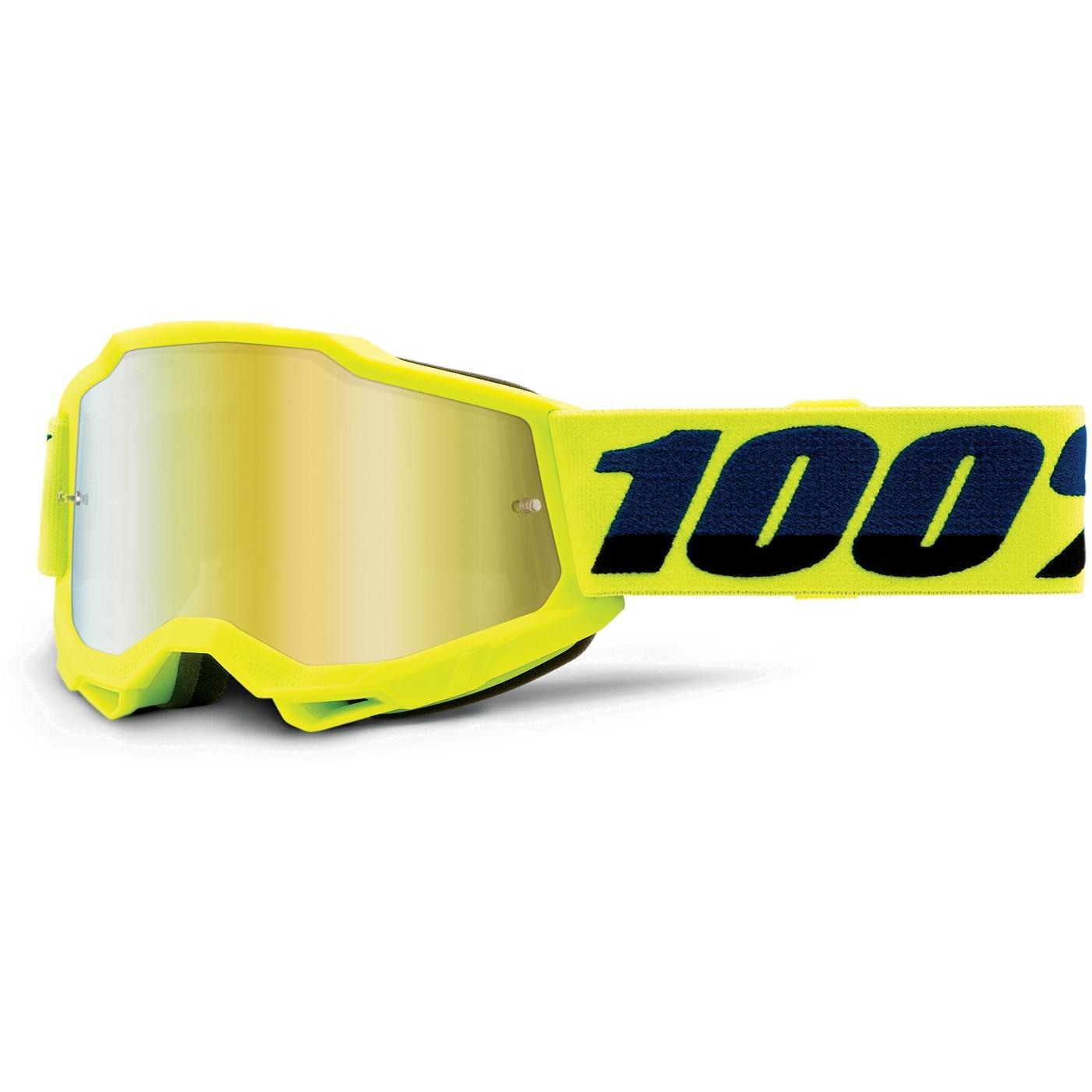 100% Accuri 2 Goggle Mirror Lens Gafas para niños - Fluo Yellow - Gold Mirror