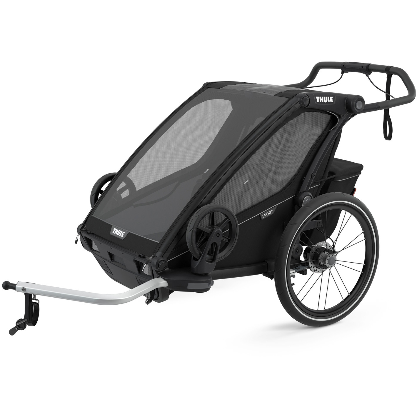 Foto de Thule Chariot Sport 2 - Remolque Bicicleta para 2 Niños - negro medianoche