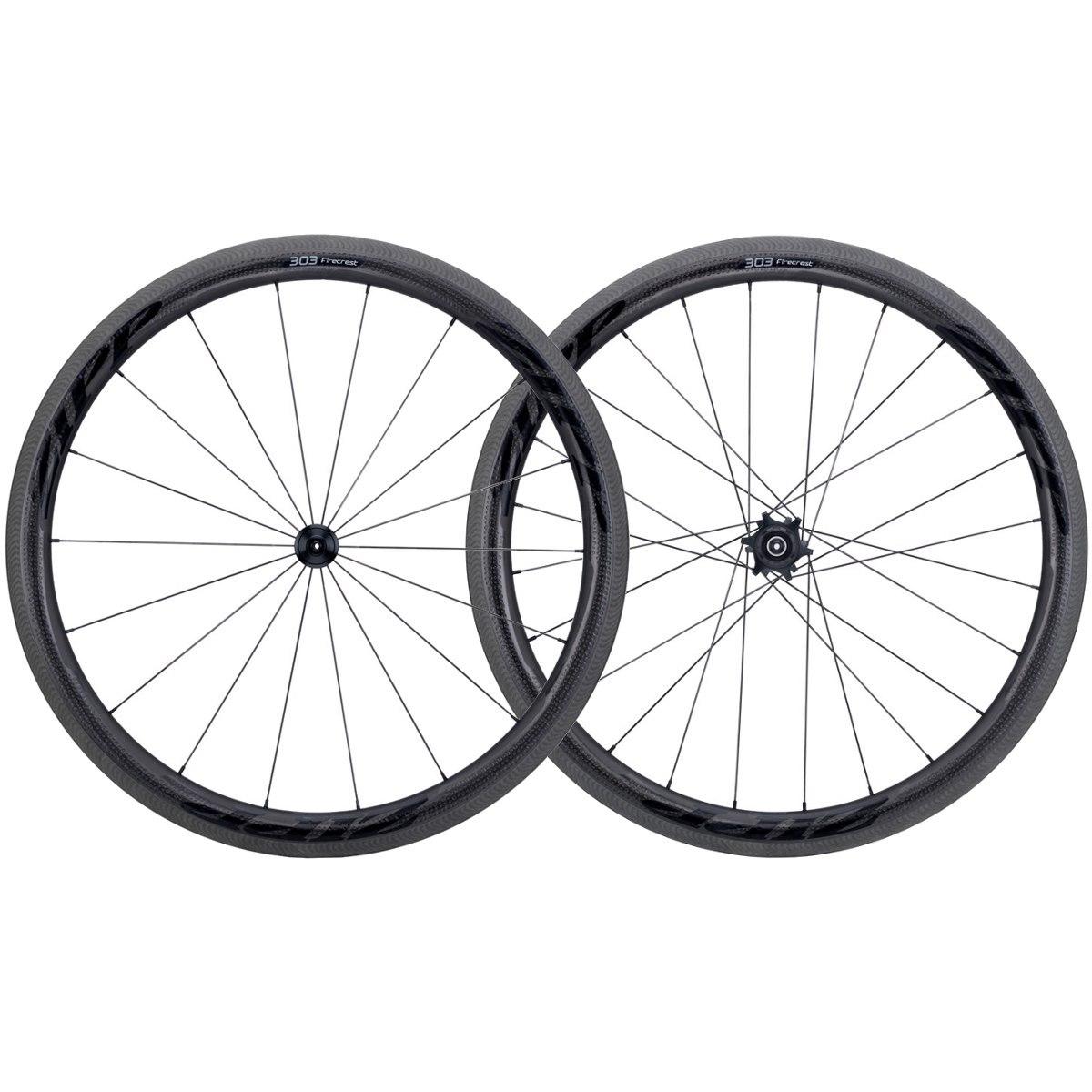 ZIPP 303 Firecrest Carbon Showstopper Laufradsatz - Schlauchreifen - QR - B-Ware - schwarz