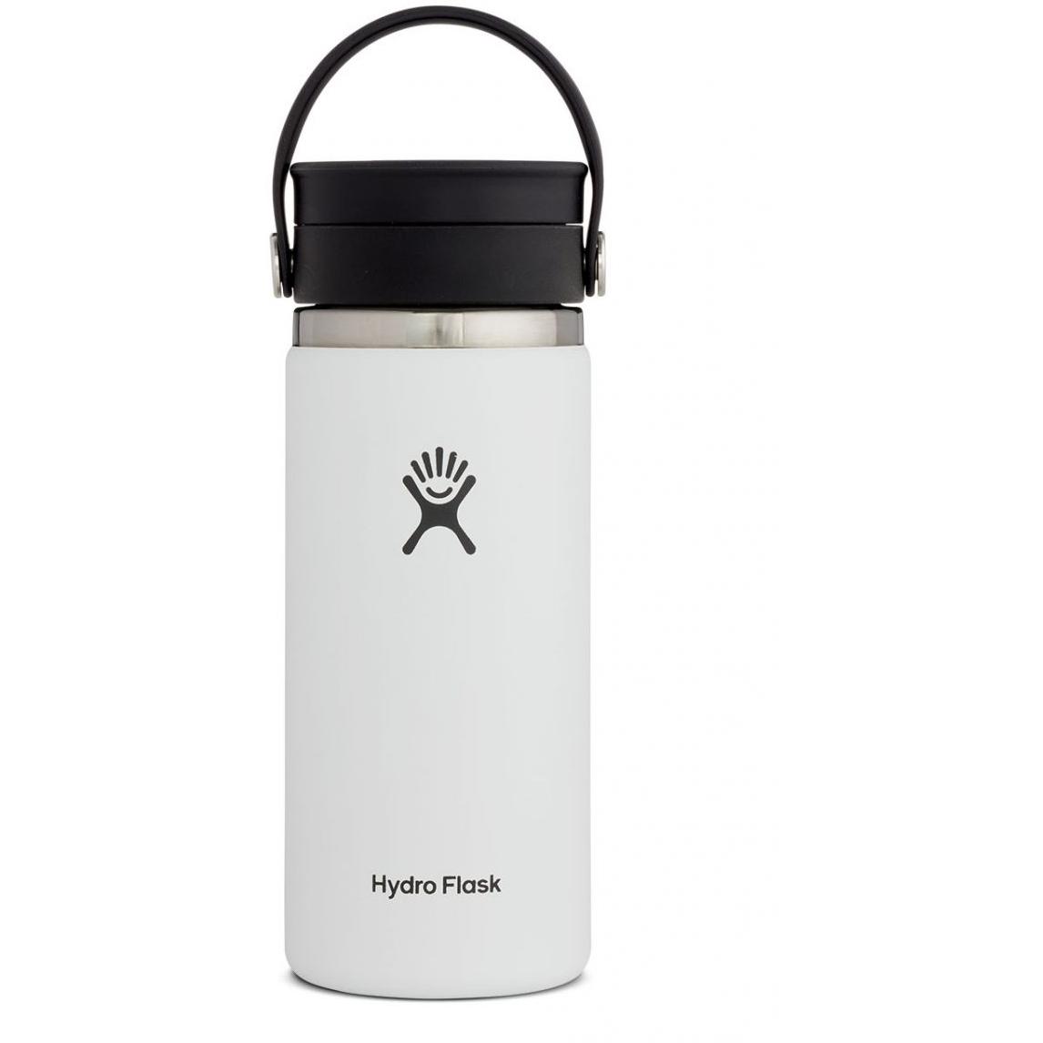 Hydro Flask 16 oz Wide Mouth Coffee Kaffeebecher mit Flex Sip Deckel - 473 ml - White