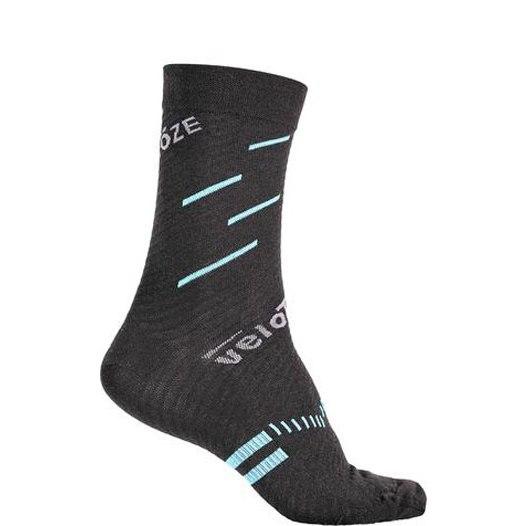 veloToze Merino Wool Socks - Black/Blue
