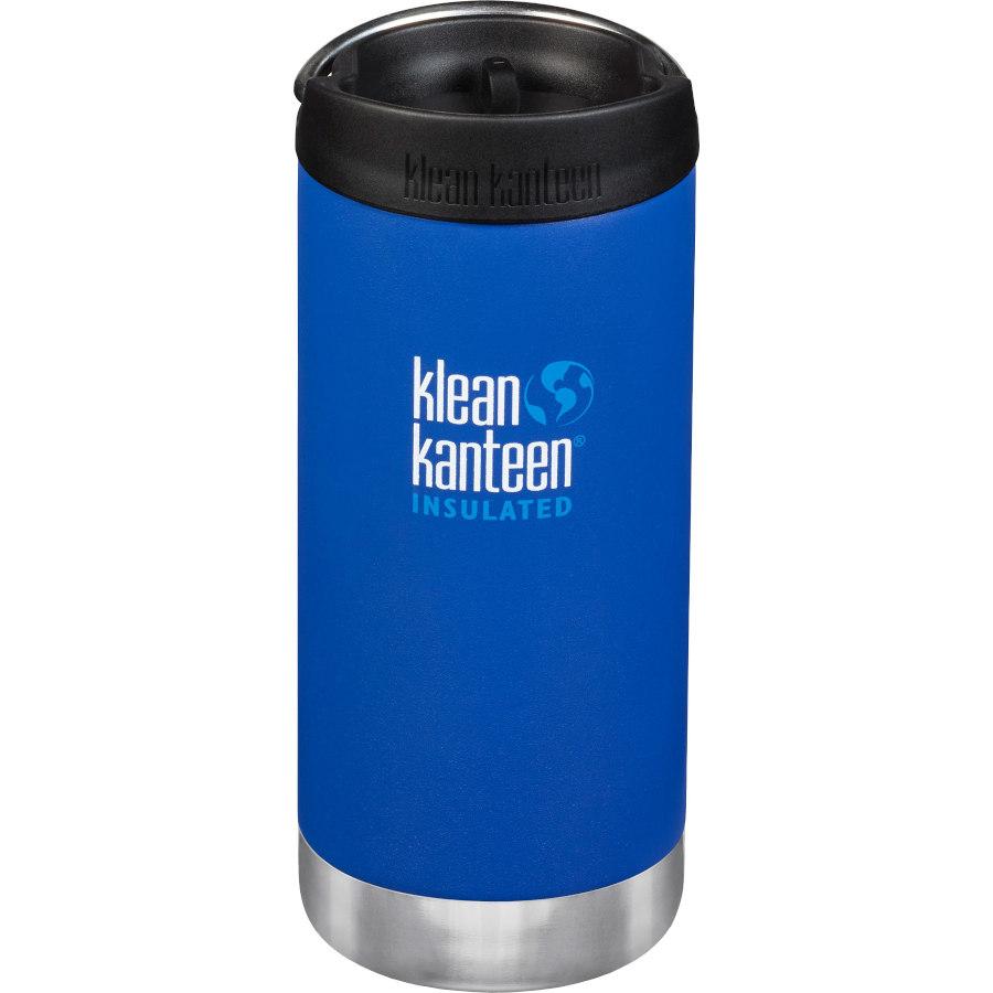 Klean Kanteen 355ml TKWide Vacuum Insulated Thermoflasche mit Café Cap - deep surf (matt)