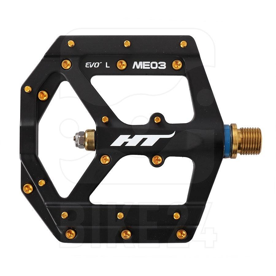 HT ME03T EVO+ Flat Pedal Magnesium / Titanium - black
