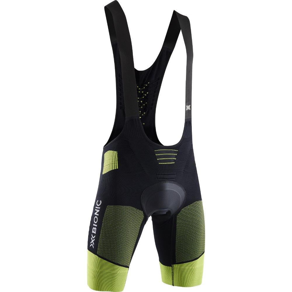 X-Bionic Effektor 4.0 Bike Bib Shorts Padded Trägerhose für Herren - opal black/effektor green