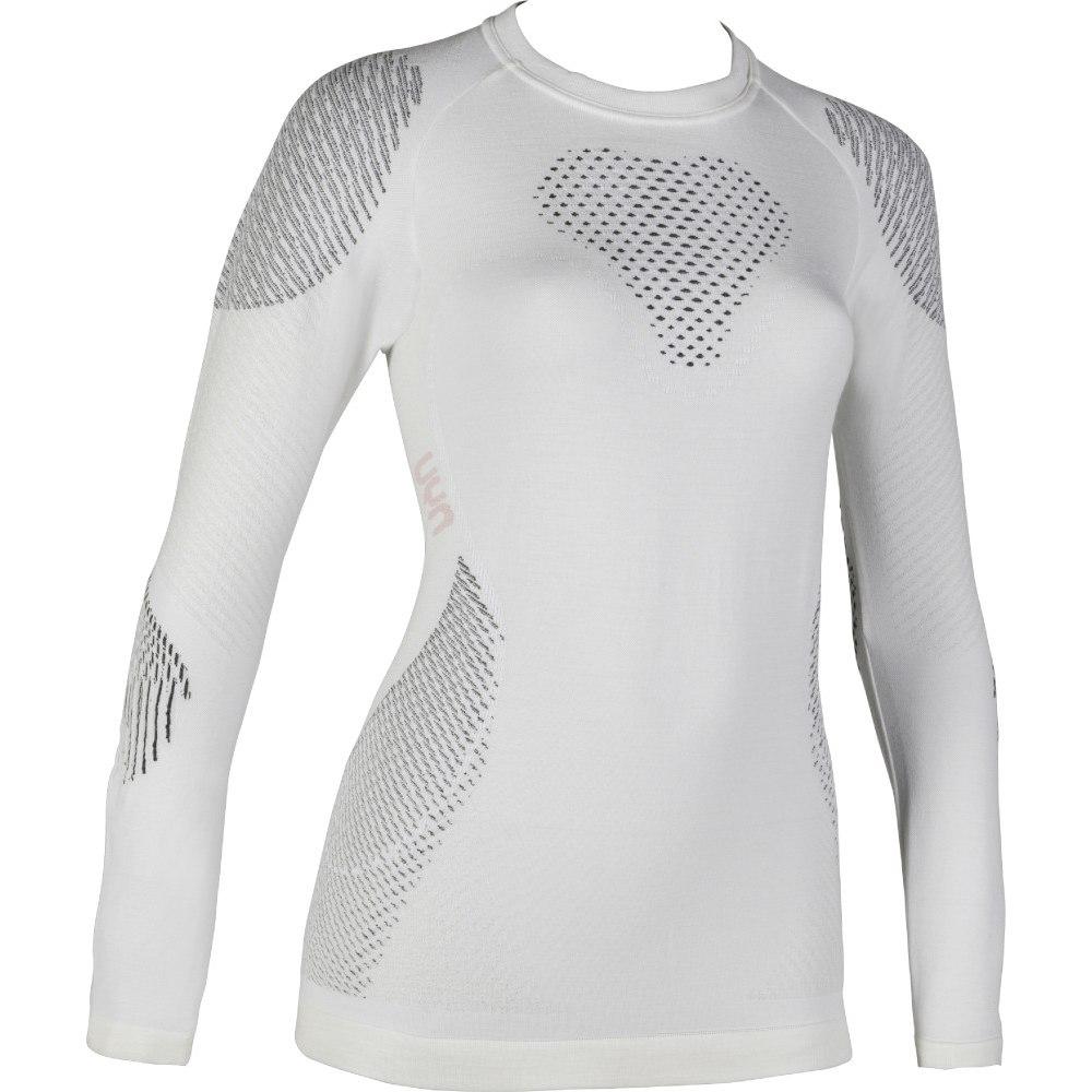 UYN Fusyon Underwear Langarmshirt Damen - Snow White/Anthracite/Grey