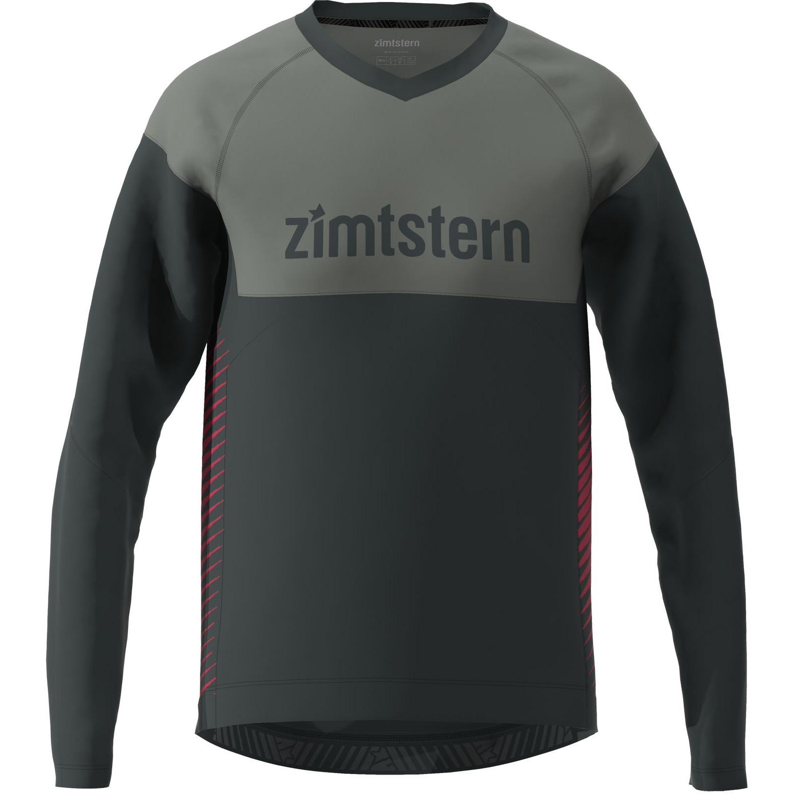 Zimtstern Bulletz Langarm-Shirt - pirate black/gun metal/jester red