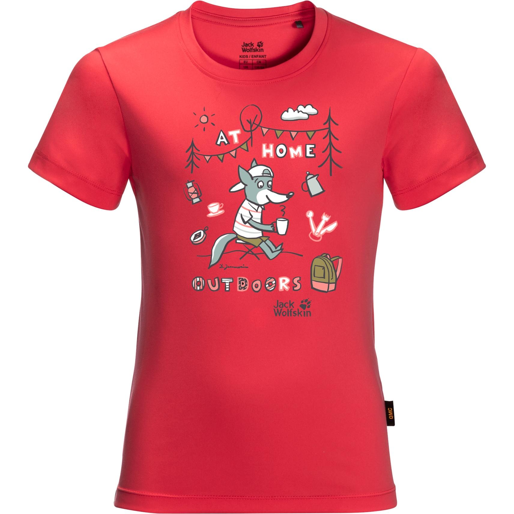 Jack Wolfskin Happy Camper Kinder T-Shirt - tulip red