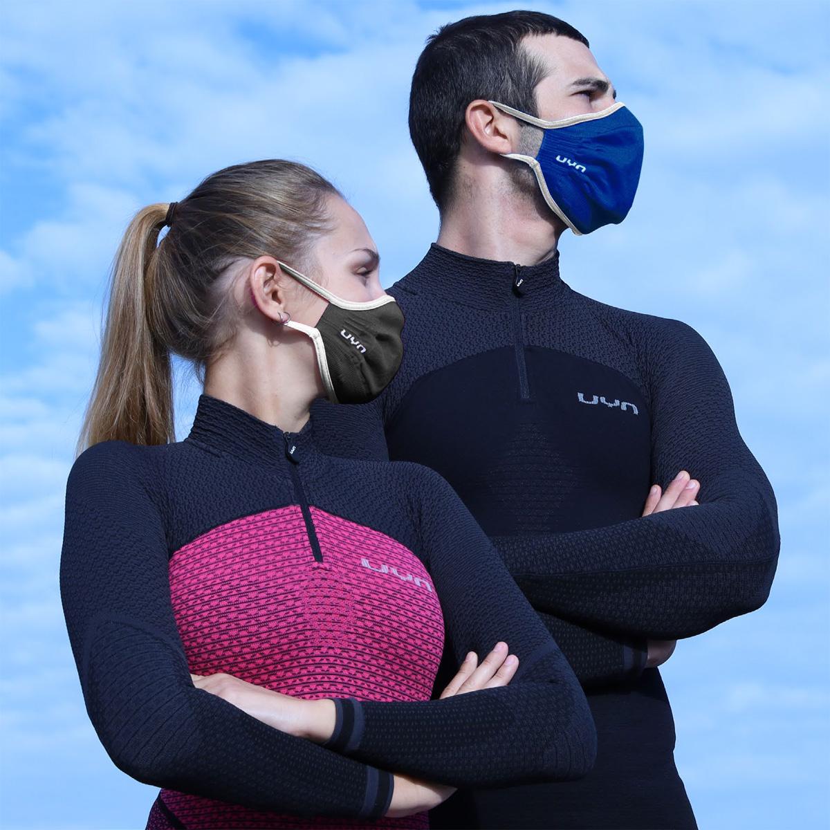 Bild von UYN Community Gesichtsmaske Plus Unisex - Navy/Pearl Grey