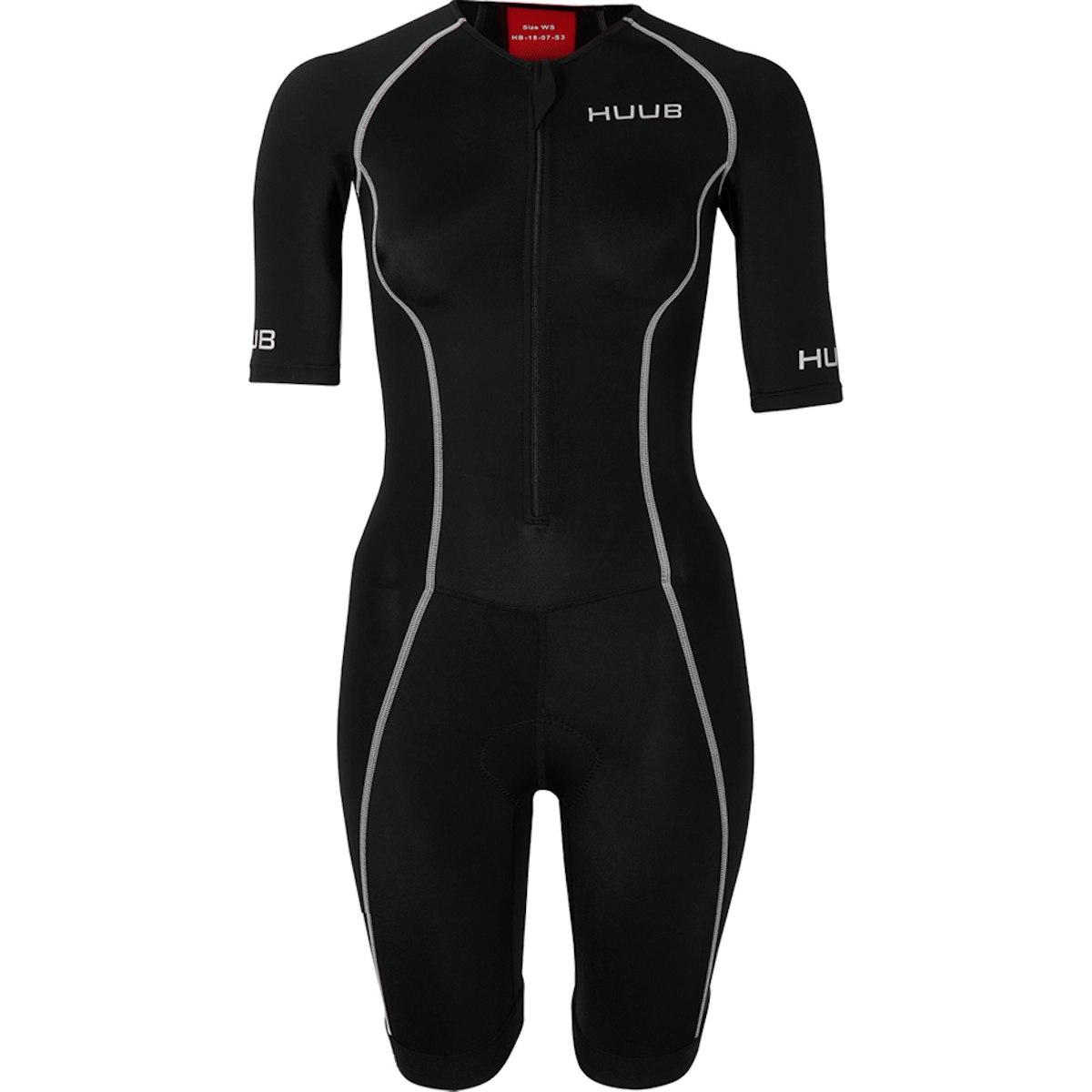 Produktbild von HUUB Design Essential Long Course Damen Trisuit - schwarz/rot