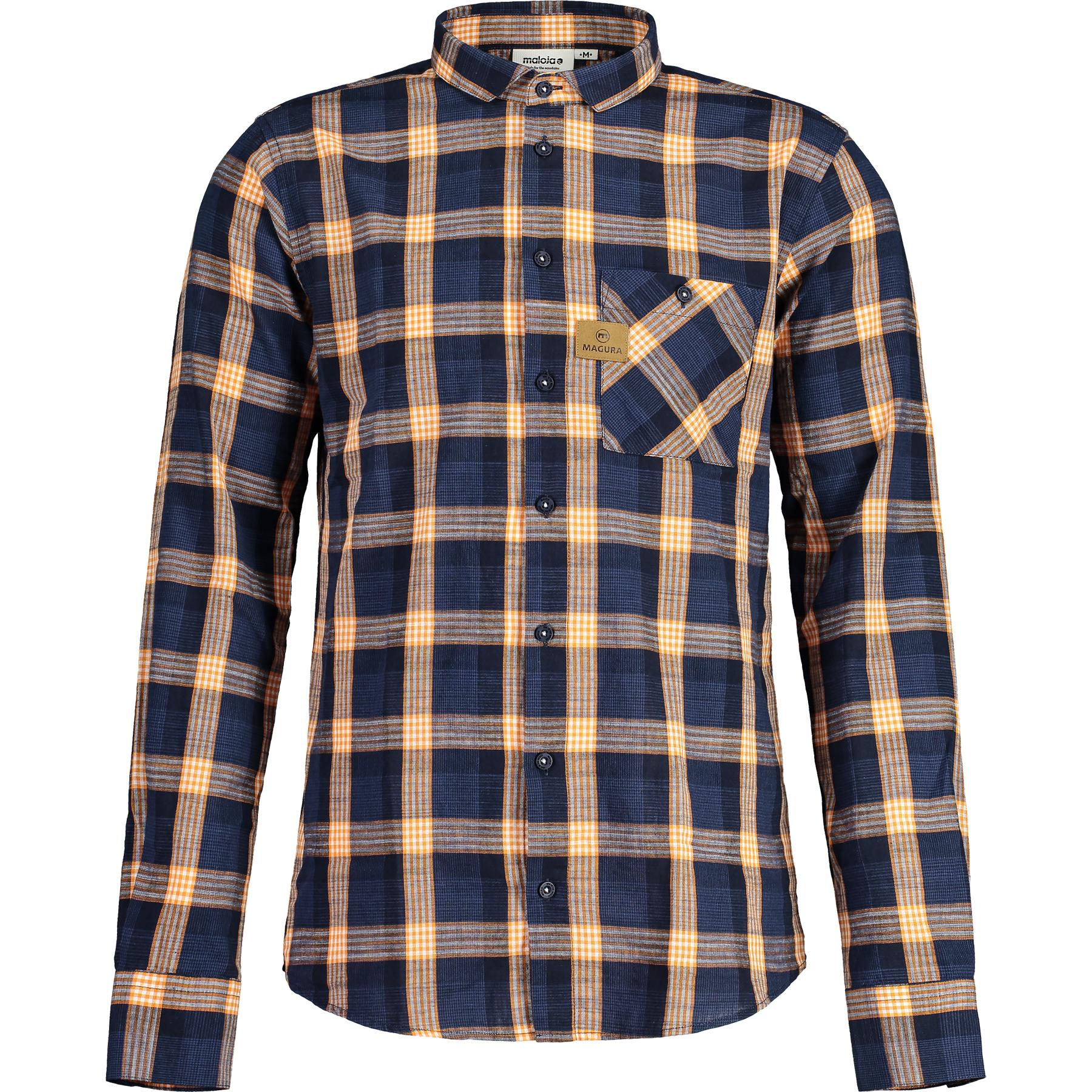 Foto de Magura Check Shirt de Maloja - Camisa de cuadros - azur/sésamo