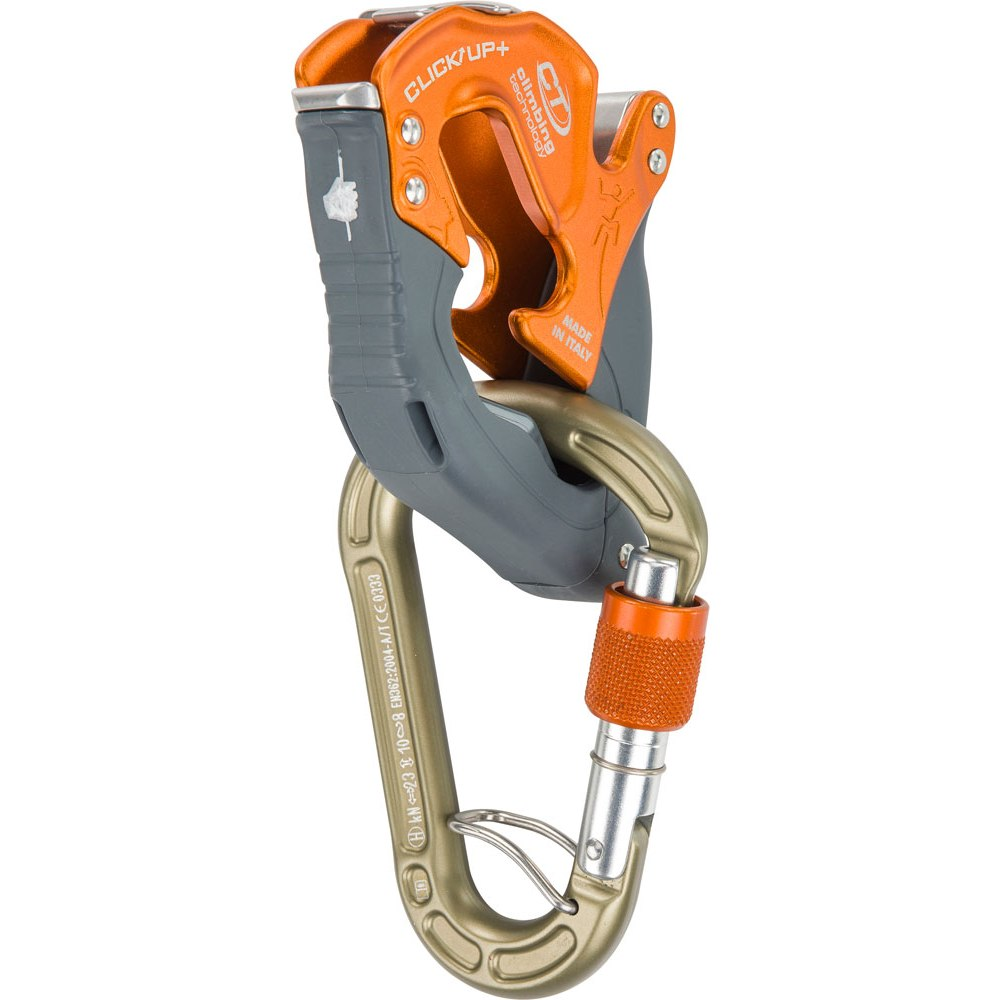 Climbing Technology Click Up + Belay Device - orange / lobster