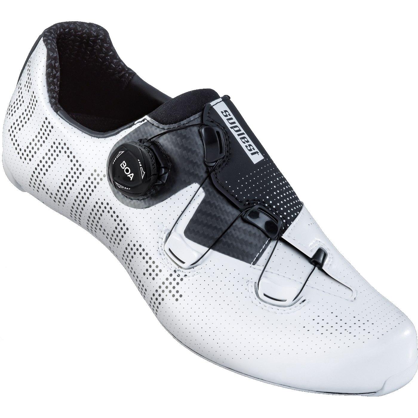 Image of Suplest EDGE+ BOA IP1 Road Performance Road Shoe - White / Black 01.064.