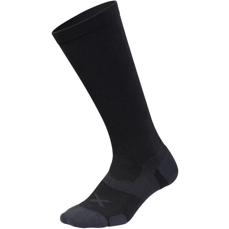 Imagen de 2XU Vectr Cushion Knee High Calcetines - lejos - black/titanium