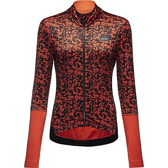 GORE Wear Progress Thermo Rain Camo Trikot für Damen - fireball/black AY99
