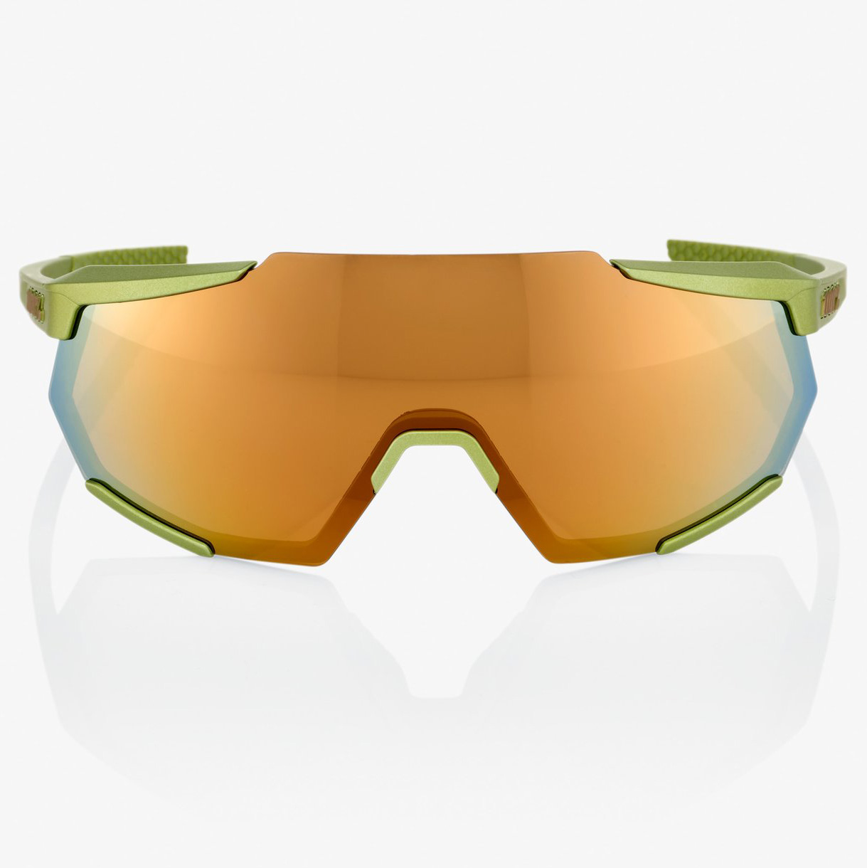 Imagen de 100% Racetrap Mirror Gafas - Matte Metallic Viperidae/Bronze Multilayer + Clear