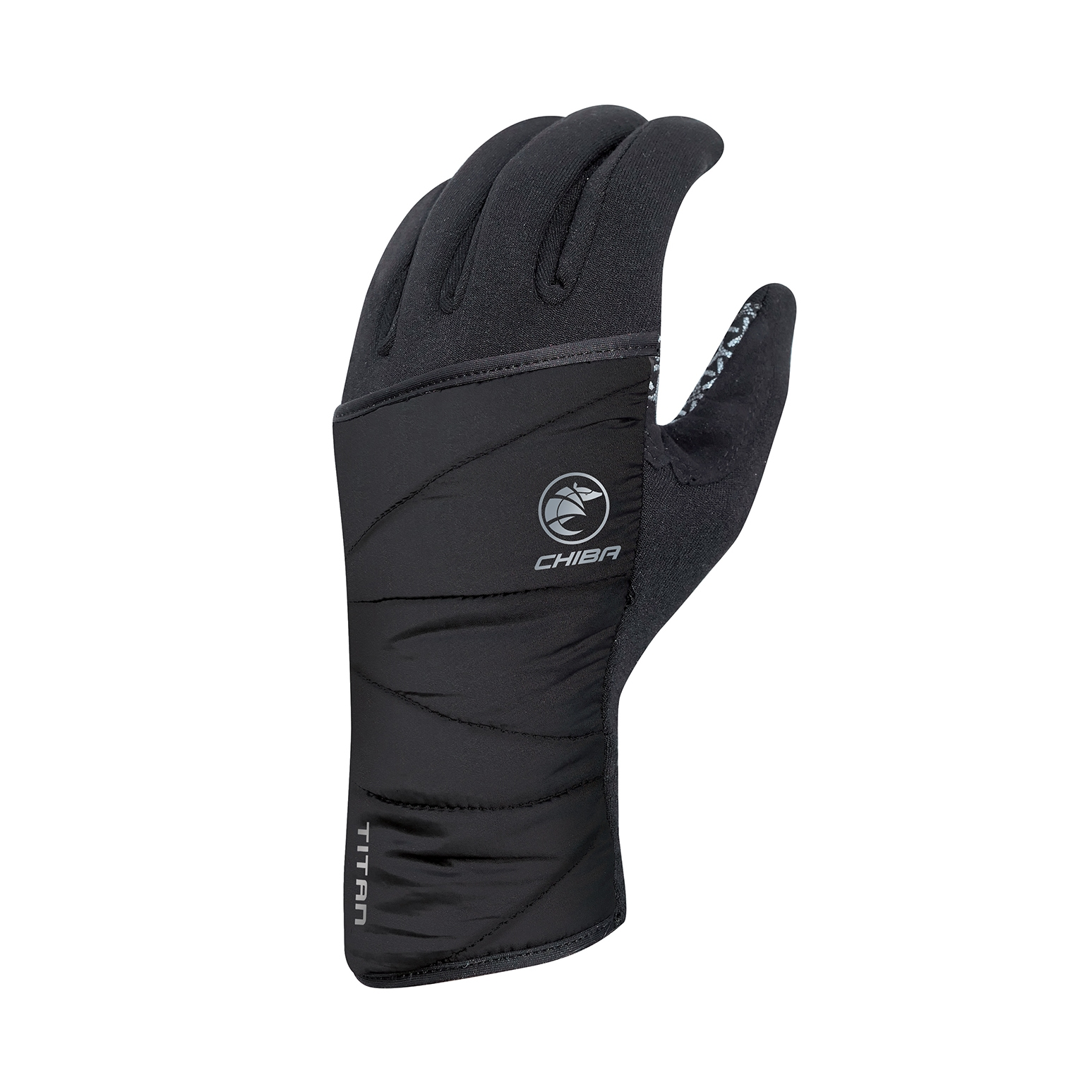 Picture of Chiba Polarfleece Titan Bike Gloves with Protective Cover - black