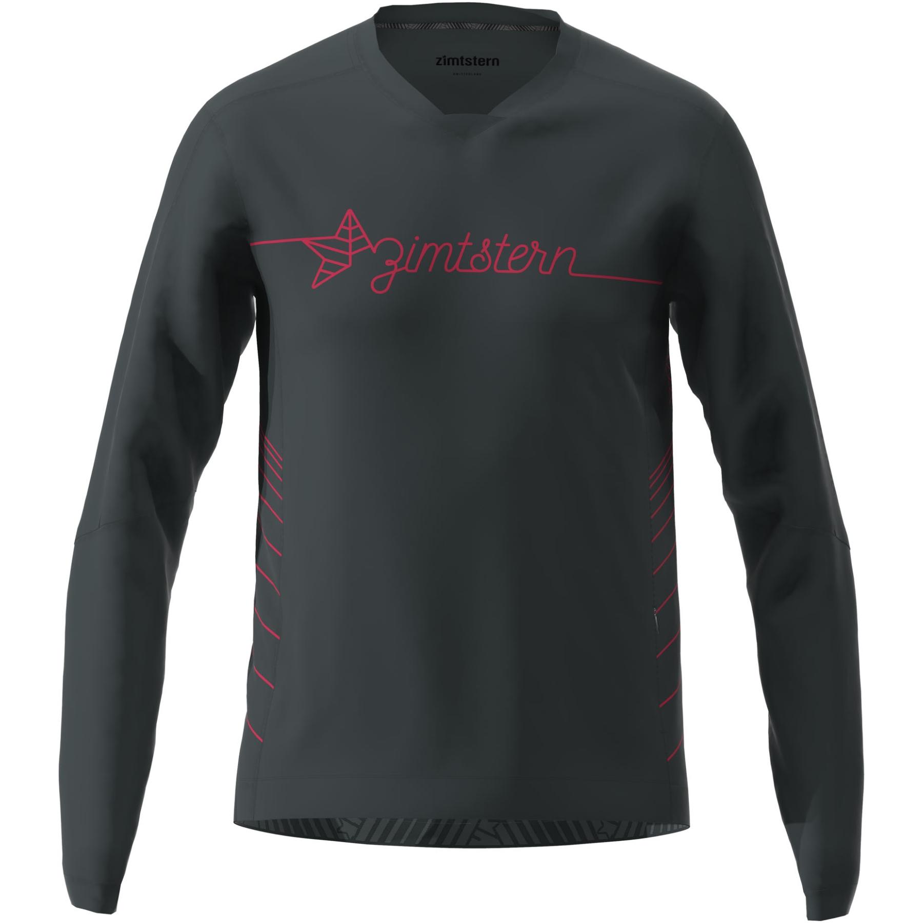 Zimtstern EcoFlowz Langarm-Shirt - pirate black/jester red