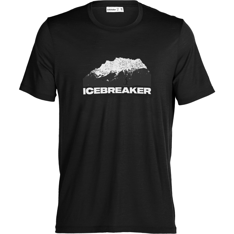 Icebreaker Tech Lite II Icebreaker Mountain Herren T-Shirt - Black