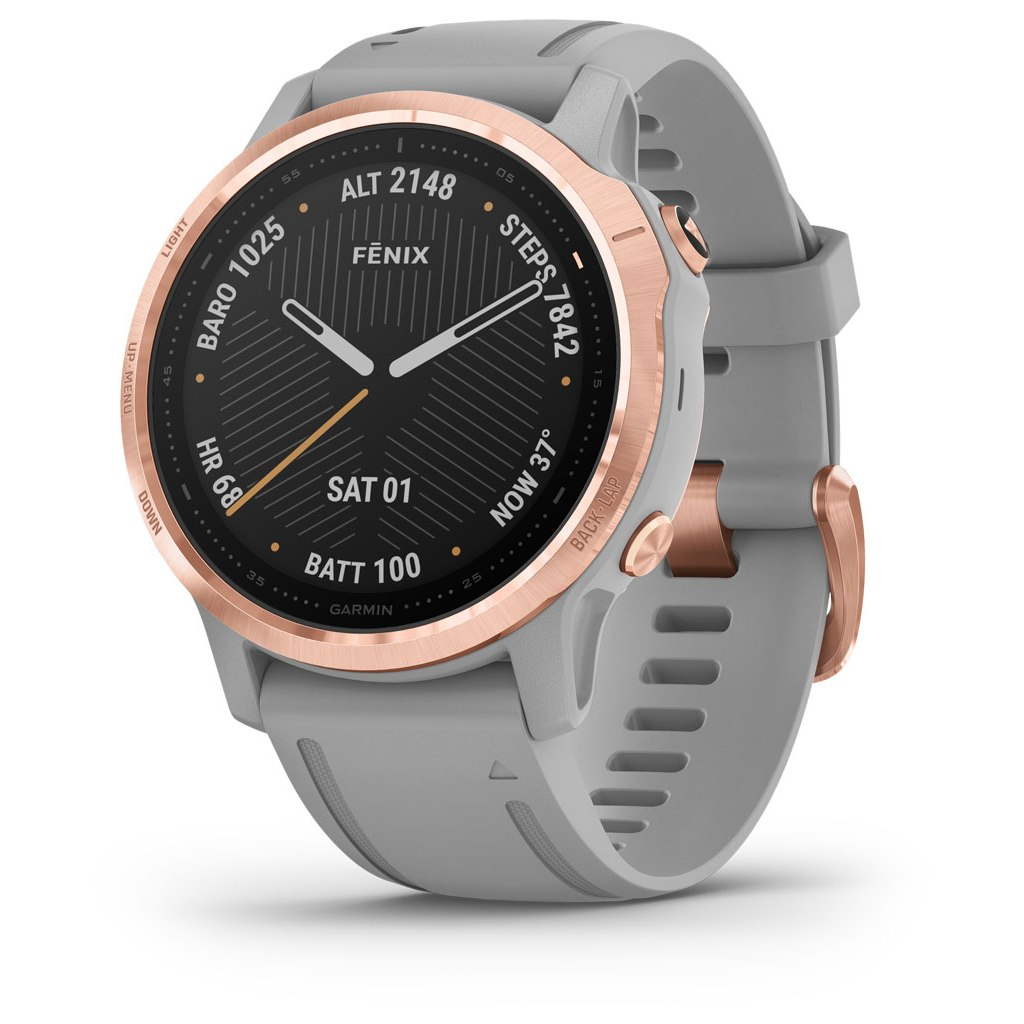 Garmin fenix 6s Sapphire GPS Smartwatch - grau/rosegold