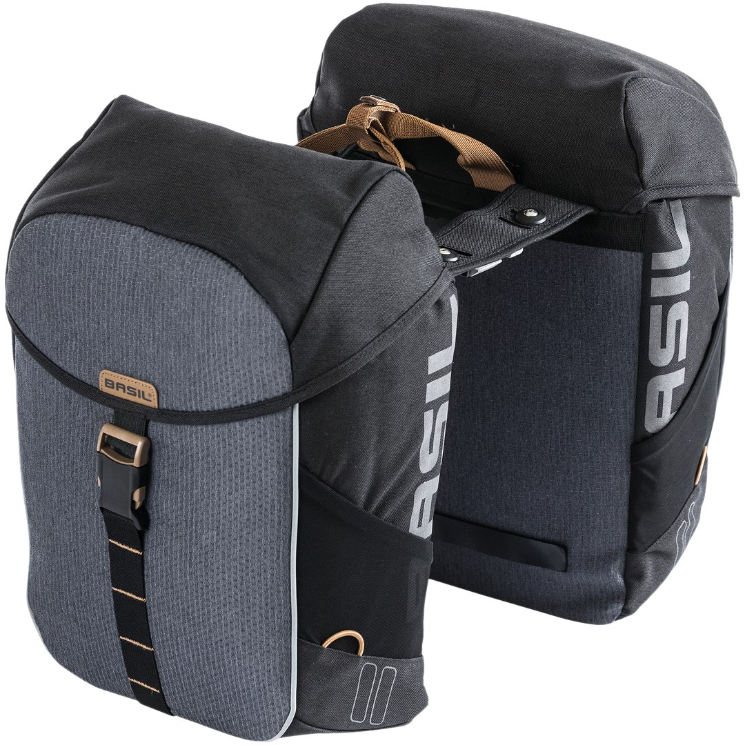 Basil Miles Double Bag MIK - black/grey