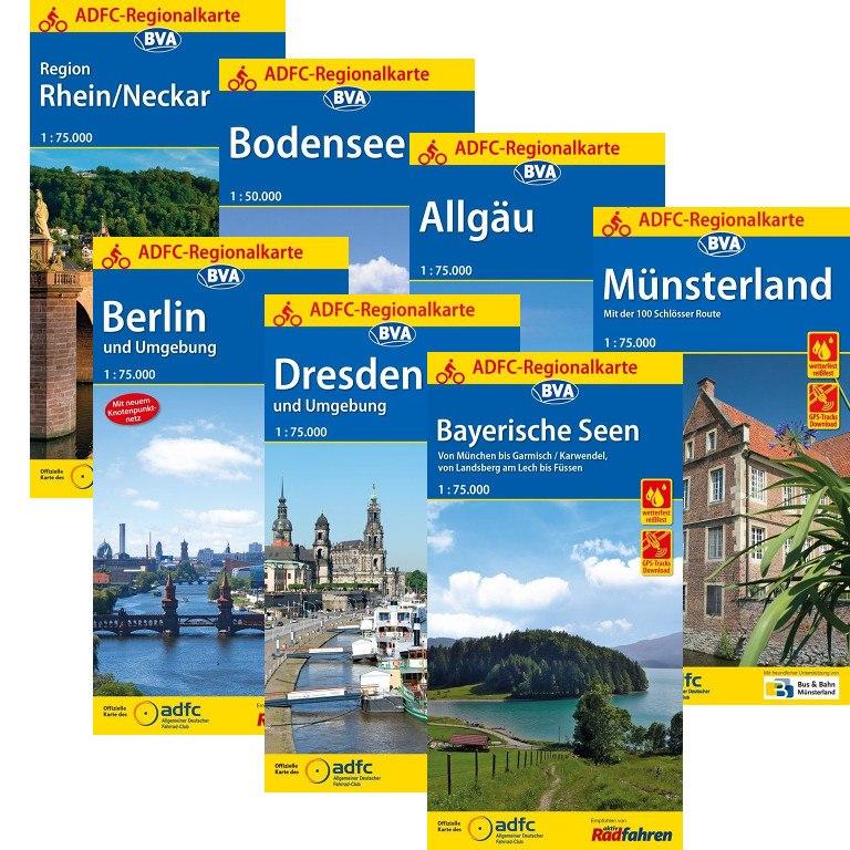 Produktbild von ADFC Regionalkarten - 89 Regionen zur Auswahl