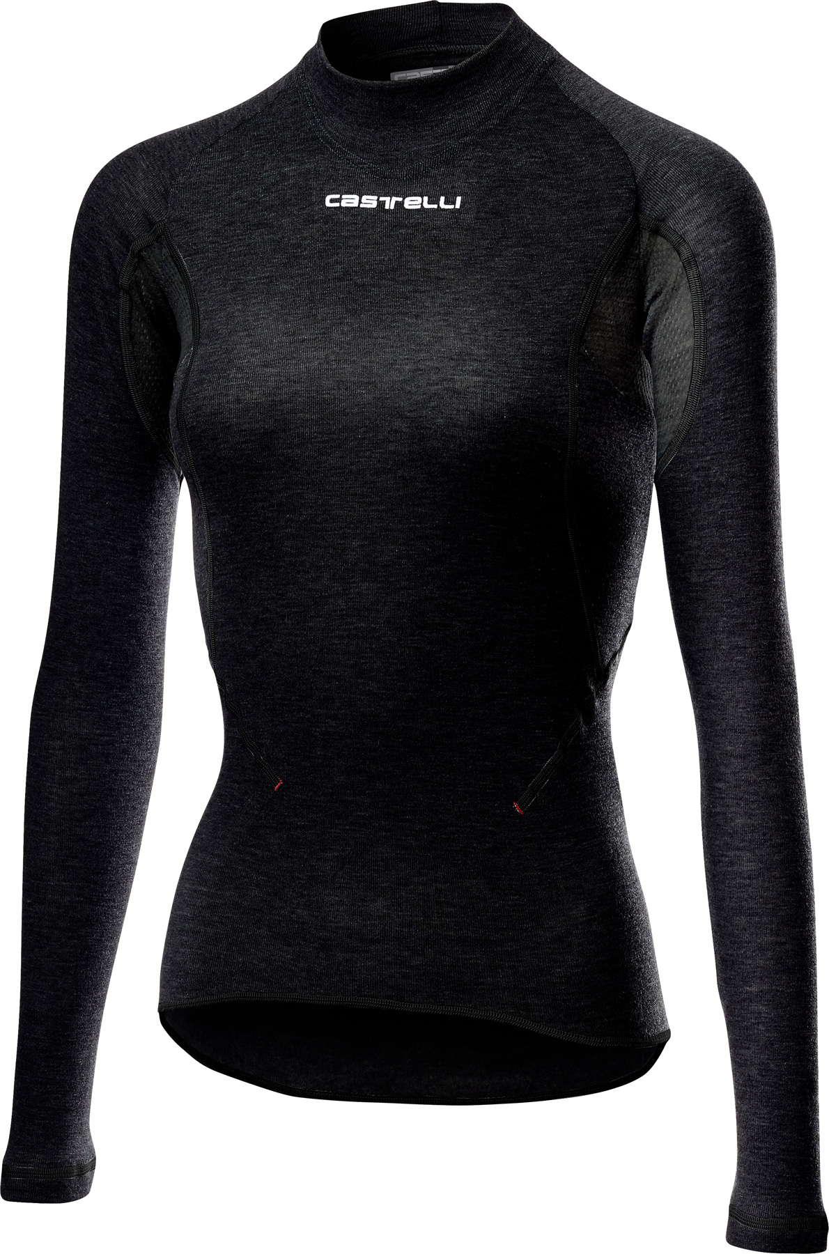 Produktbild von Castelli Flanders 2 W Warm Long Sleeve Damen Unterhemd - black 010