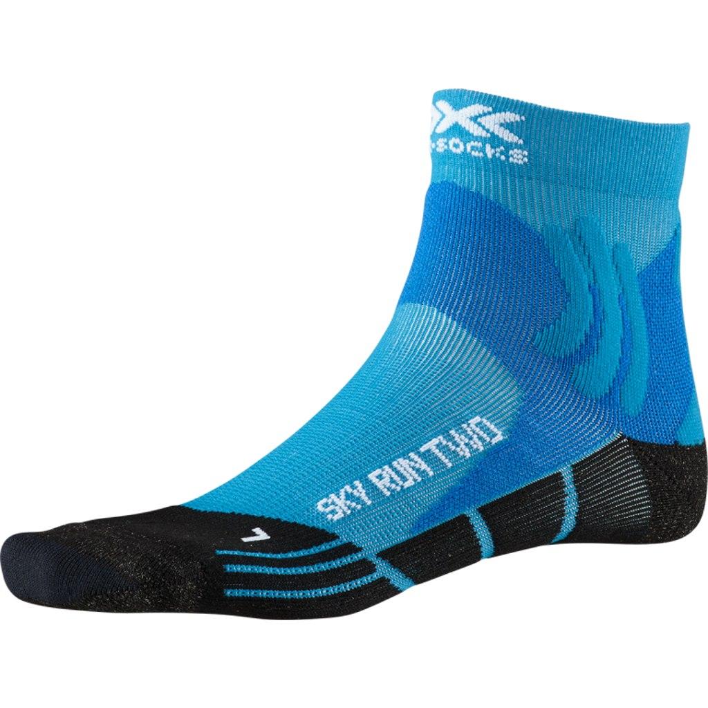 X-Socks Sky Run Two Laufsocken - teal blue/opal black