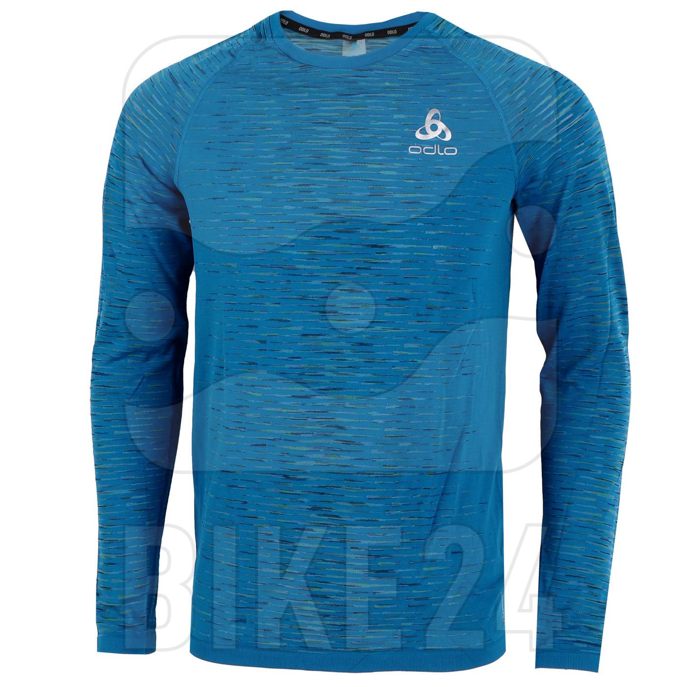 Produktbild von Odlo Herren BLACKCOMB CERAMICOOL Langarmshirt - mykonos blue space dye