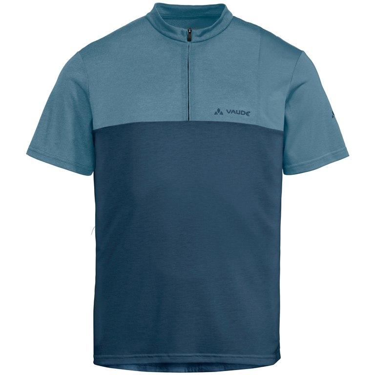 Vaude Men's Tremalzo Shirt V Kurzarmtrikot - blue grey