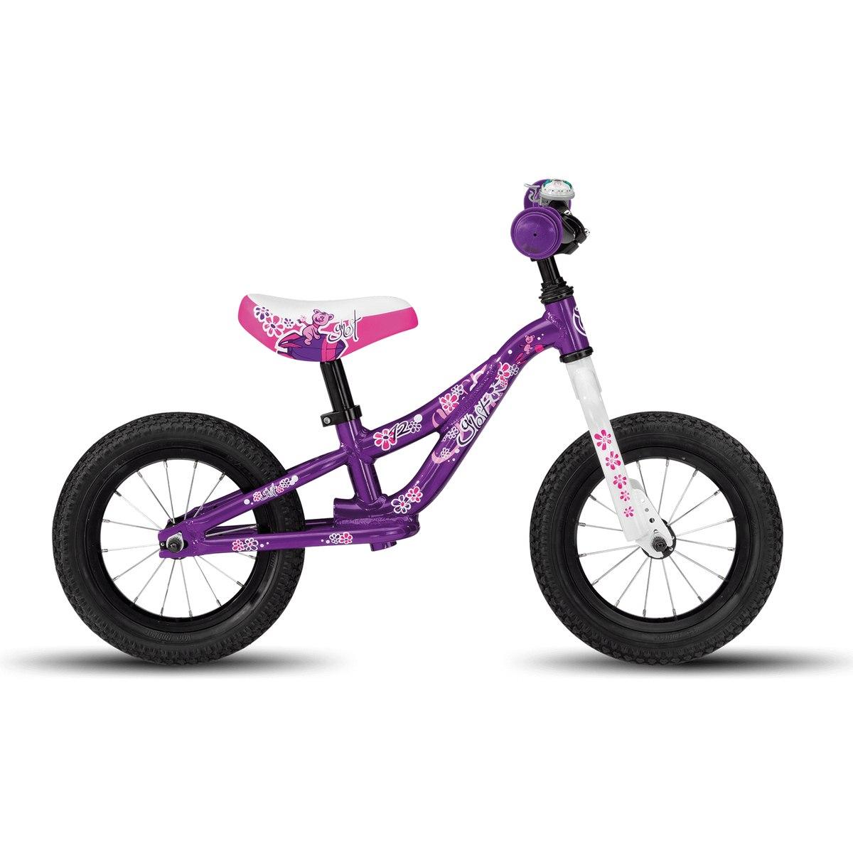 """Ghost POWERKIDDY AL 12 K - 12"""" Run Bike - 2020 - violet / star white / fuchsia pink"""