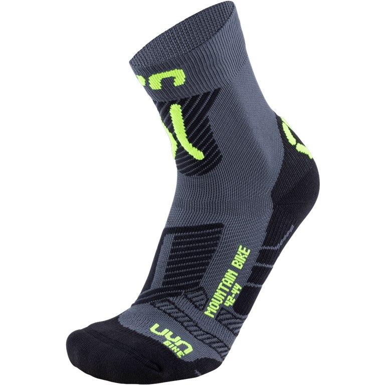 UYN Cycling MTB Light Socks - Anthracite/Yellow Fluo