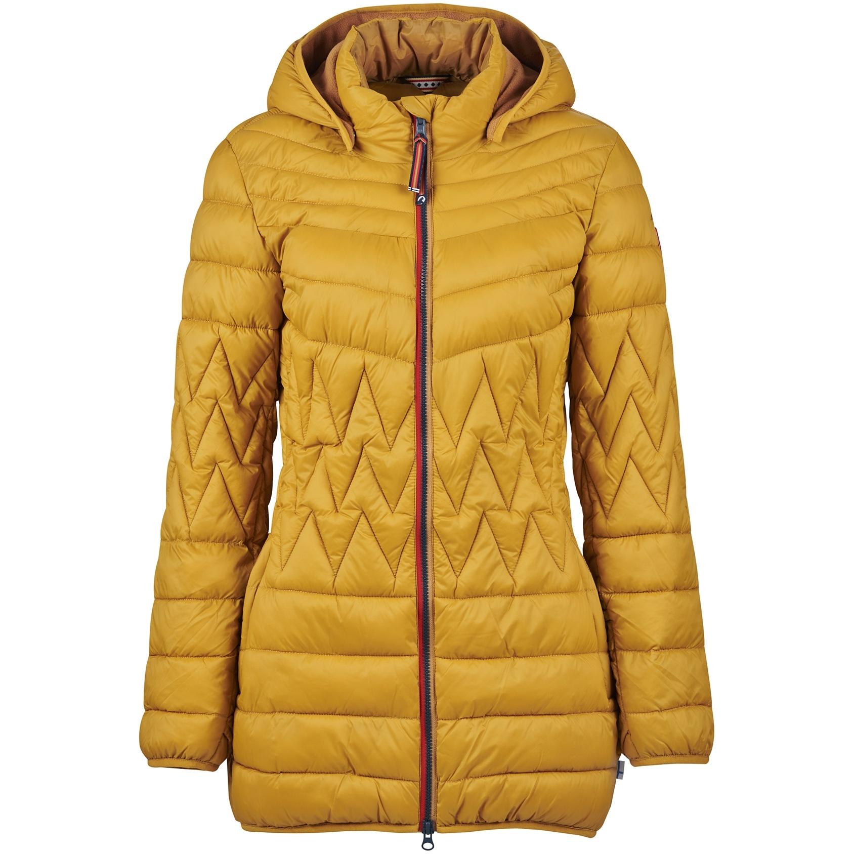 Finside LAHTI Zip in Inner Jacket - Women Quilted Coat - harvest gold