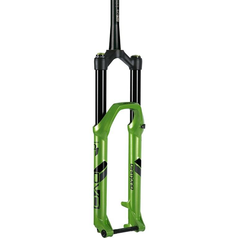 "DVO Suspension Diamond D1 - 27.5"" Enduro Race Fork - 170mm - 44mm Offset - Tapered - 15x110mm Boost - green"