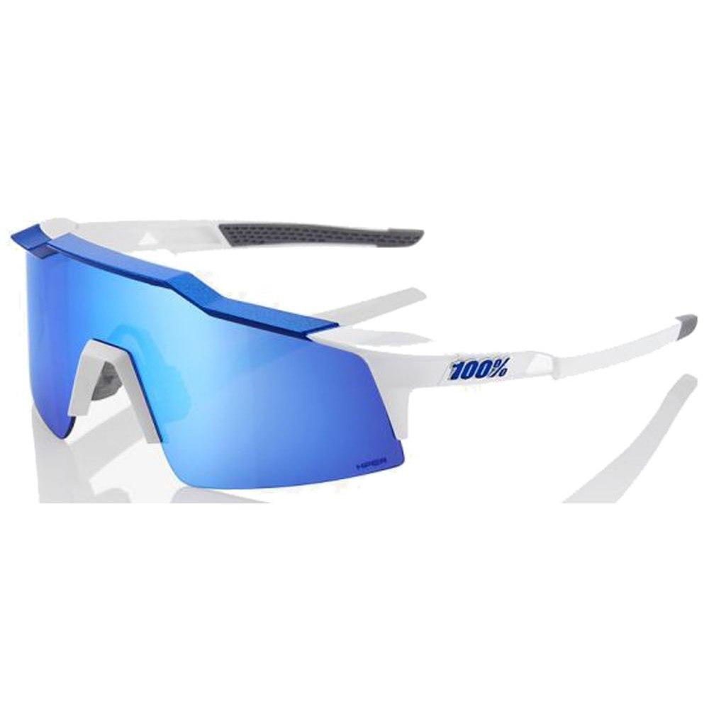 100% Speedcraft Small HiPer Mirror Lense Glasses - Matte White