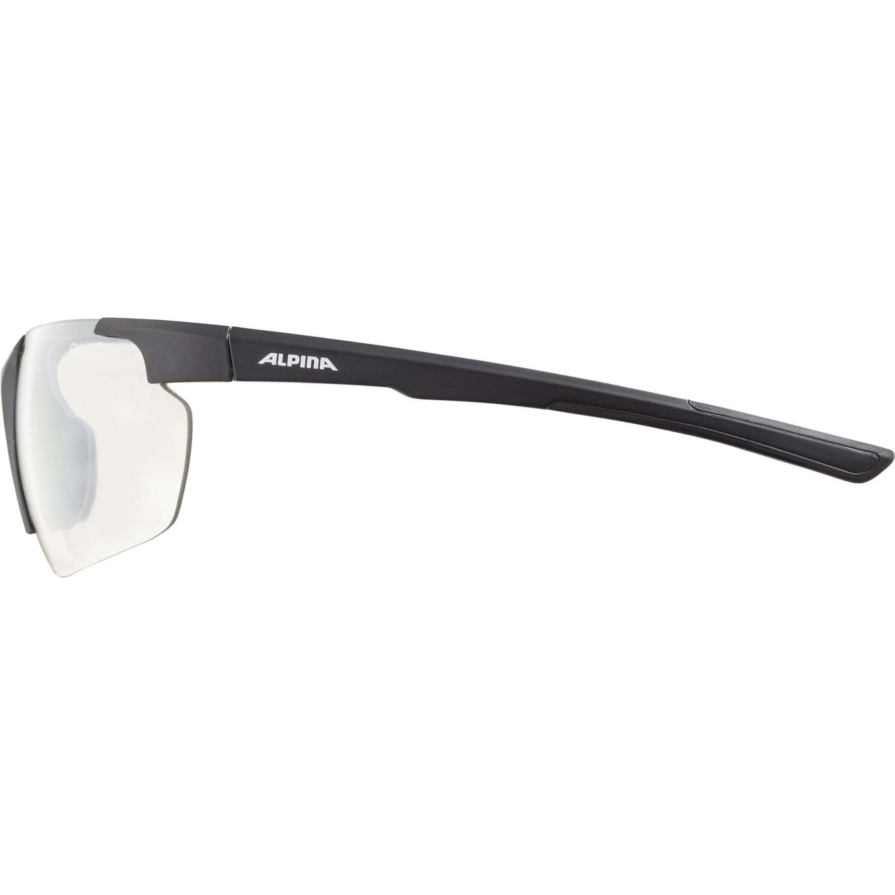 Image of Alpina Defey HR Glasses - black matt / clear mirror
