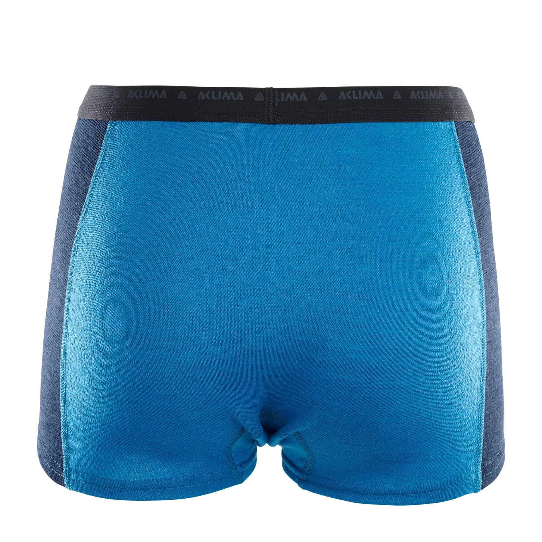 Image of Aclima Warmwool Hipster Women's Shorts - blue sapphire/navy blazer