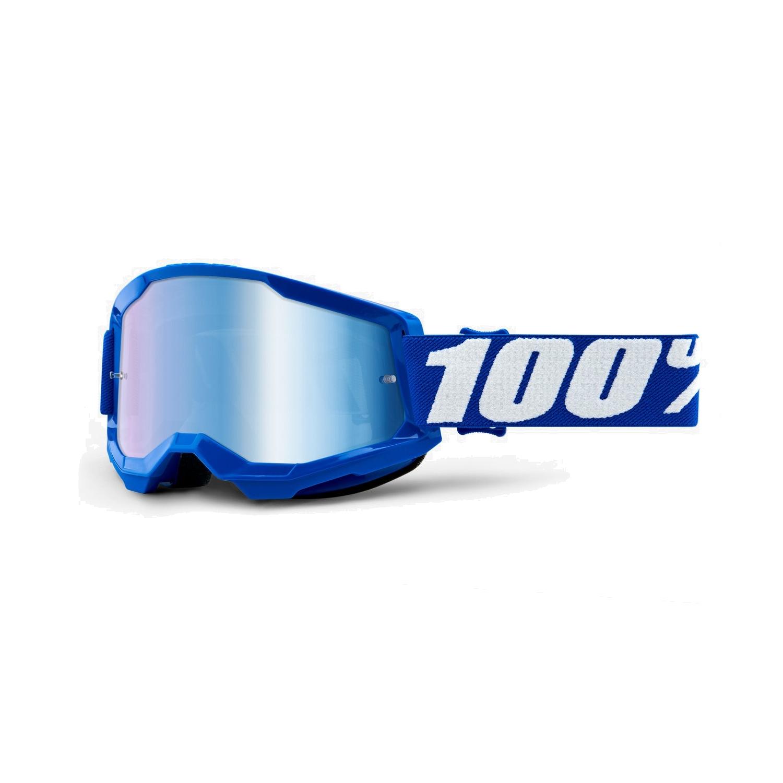 100% Strata 2 Goggle Mirror Lens Gafas - Blue