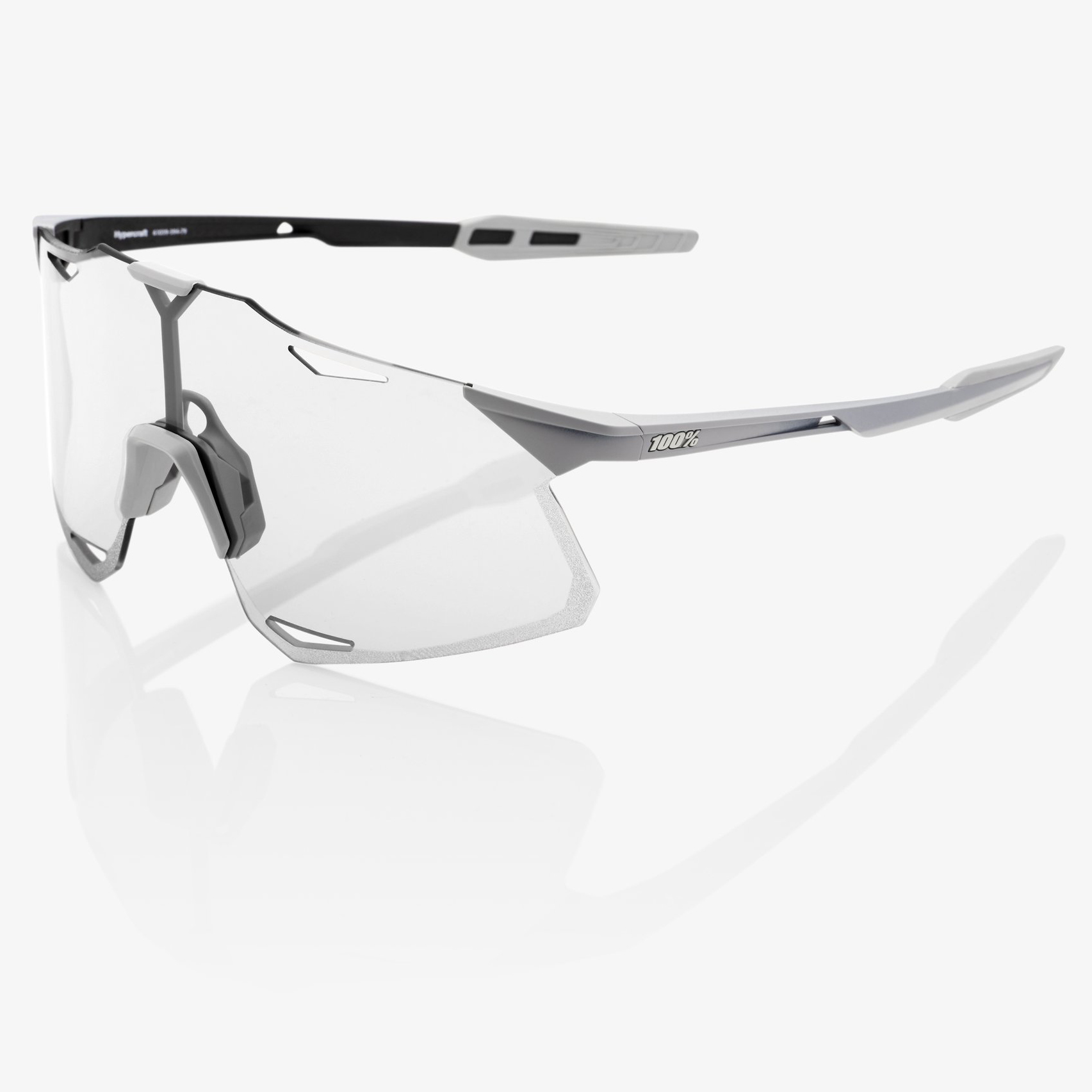 Image of 100% Hypercraft - HiPER Lens Glasses - Matte Stone Grey/Coral + Clear