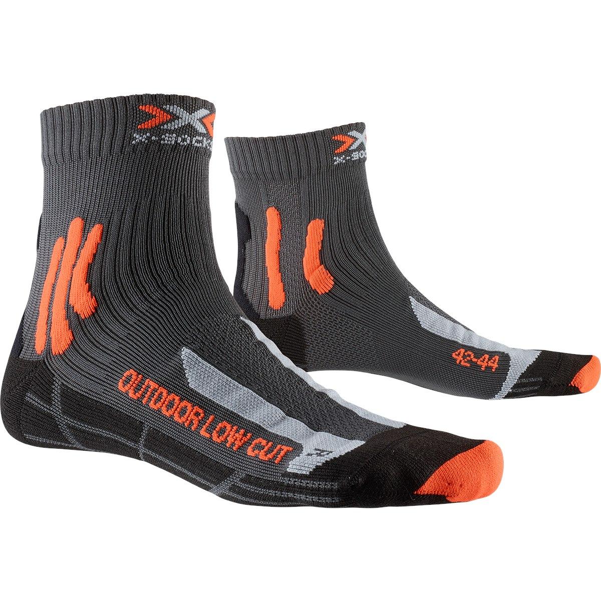 X-Socks Trek Outdoor Low Cut Socken - anthracite/orange