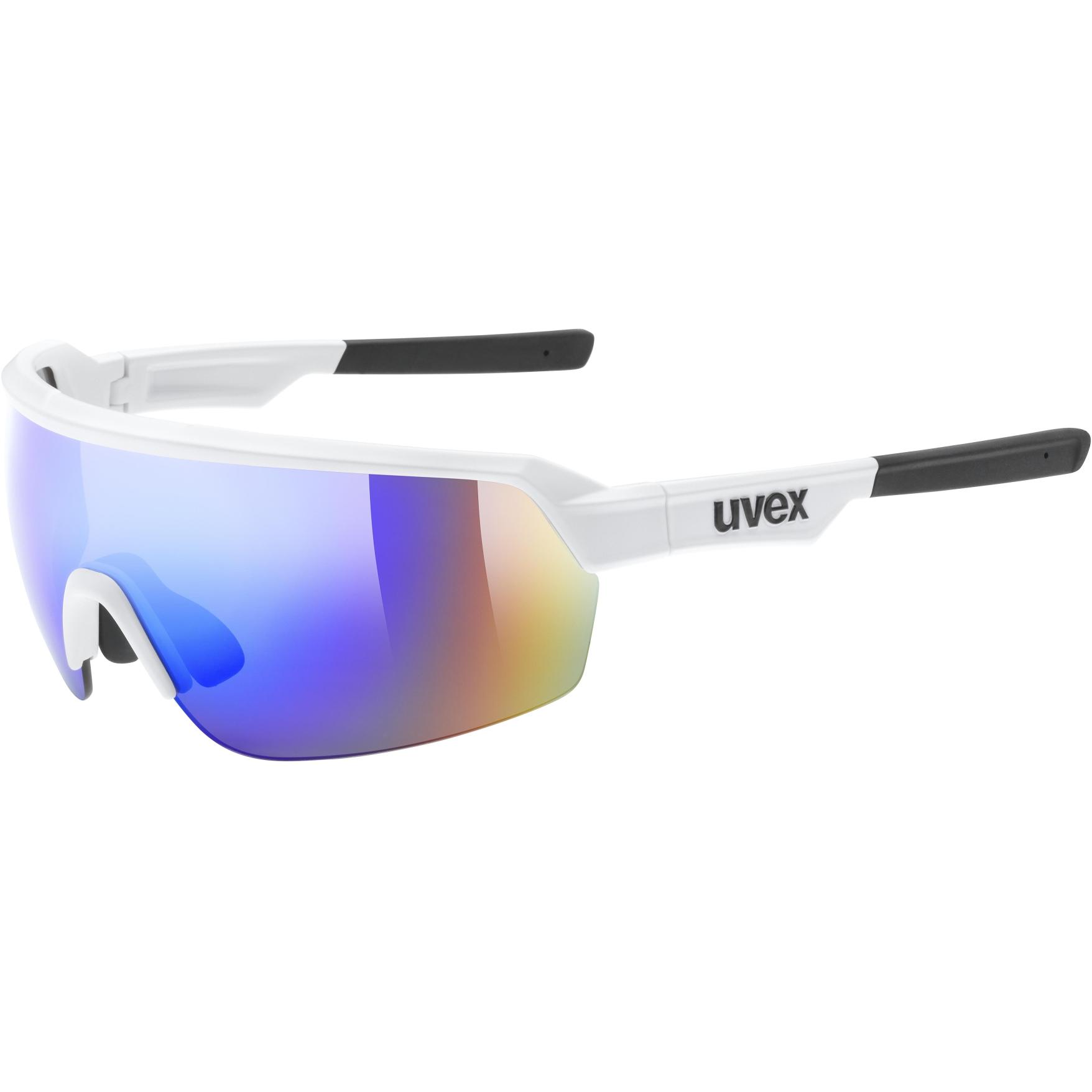 Uvex sportstyle 227 Glasses - white mat/mirror blue